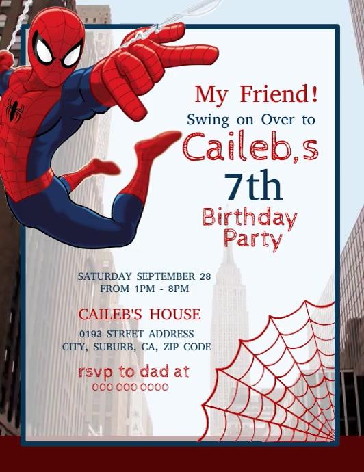 spider man birthday party