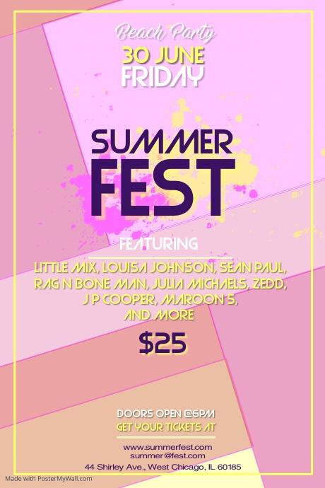 Summer Fest Template Postermywall