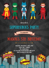 29 870 superhero kids birthday party