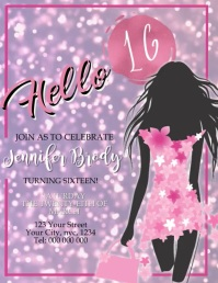sweet 16 customizable design templates