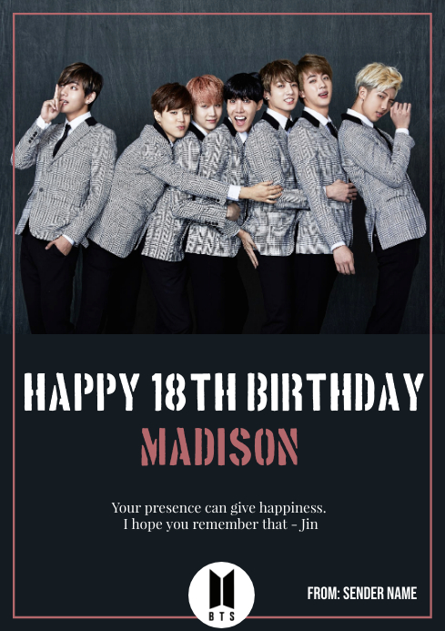 template bts birthday card vorlage
