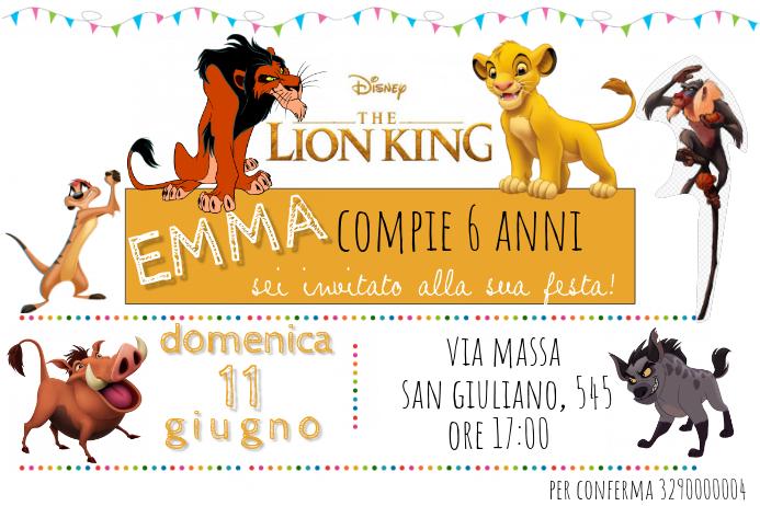 the lion king birthday invitation