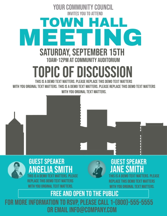 Town Hall Meeting Template Postermywall
