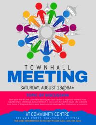 270 Townhall Meeting Customizable Design Templates