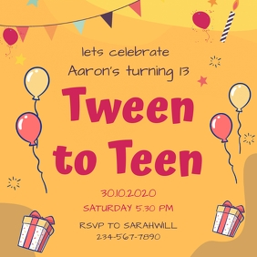 10 770 13th birthday invitations free
