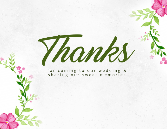 Watercolor Thank You Card Template Postermywall