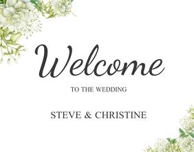 4 380 wedding sign customizable design