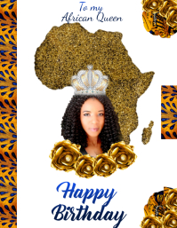 Wh Happy Birthday African Queen Template Postermywall