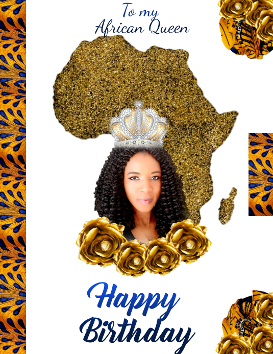 Wh Happy Birthday African Queen Vorlage Postermywall