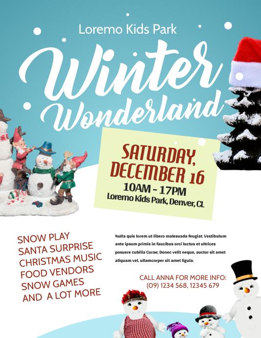 Winter Wonderland Flyer Template PosterMyWall