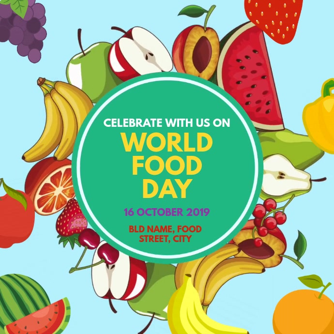 World Food Day Templat Postermywall