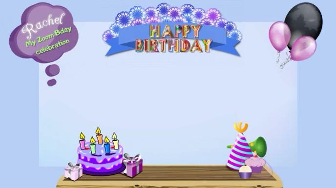 Zoom Hintergrunde Geburtstag Virtuelle Party Zoom Vorlage Postermywall