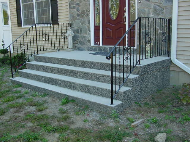Precast Concrete Steps Concrete Products In Danbury Ct Mono | Handicap Rails For Steps | Deck | Wheelchair Ramp | Activated Led | Adjustable Height | Bed