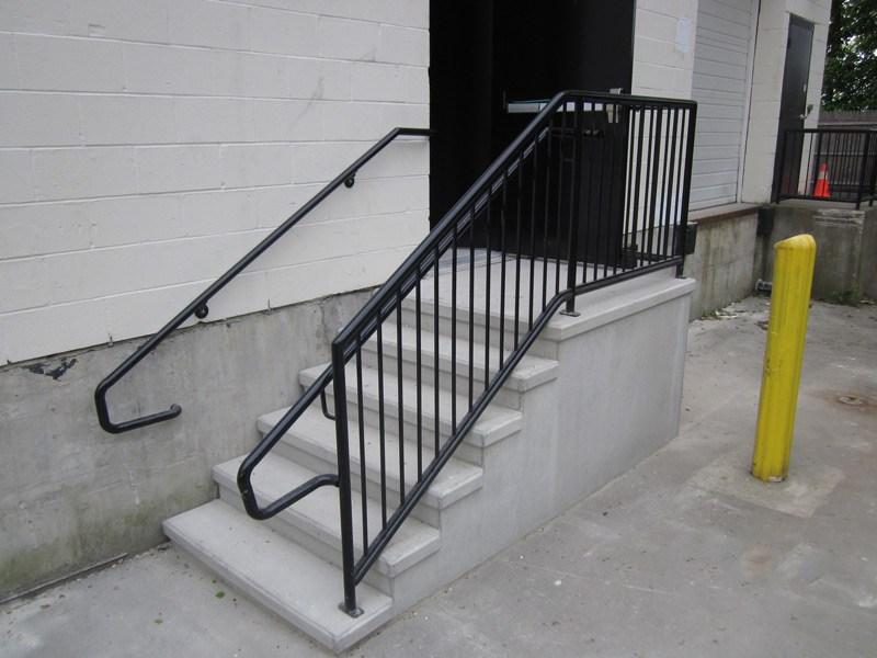 Mono Concrete Step Llc Iron Railings   Commercial Handrails And Railings   Metal   Wood   Guardrail   Pipe Railing   Stainless Steel Railing