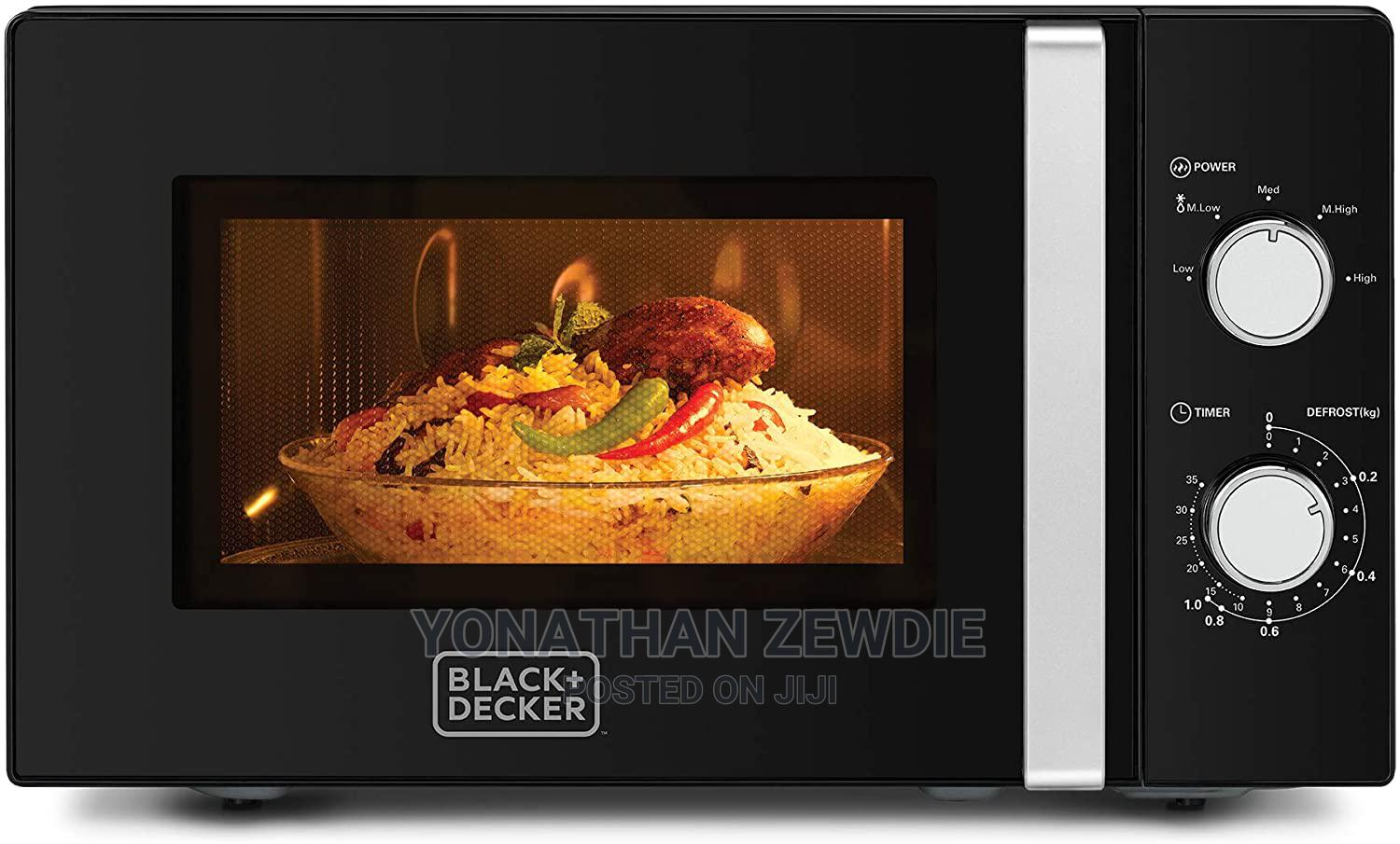 black decker 20l microwave oven with defrost function blac