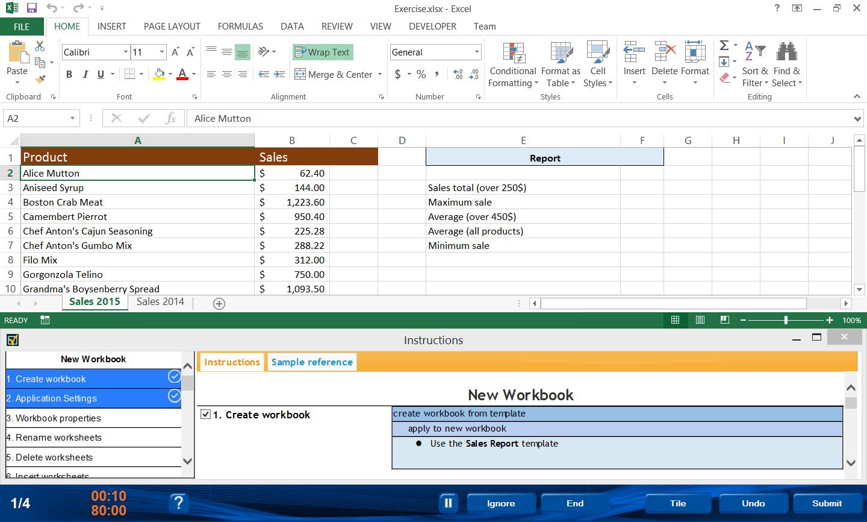 Prep Test Mos Excel Expert 77 427