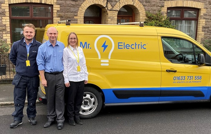 Michael Stewart and Tracy Yarnall launch Mr Electric Newport