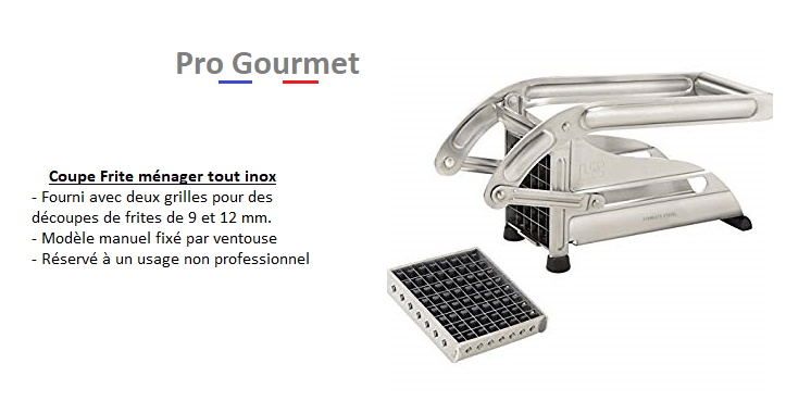 coupe frites pro gourmet orgeval