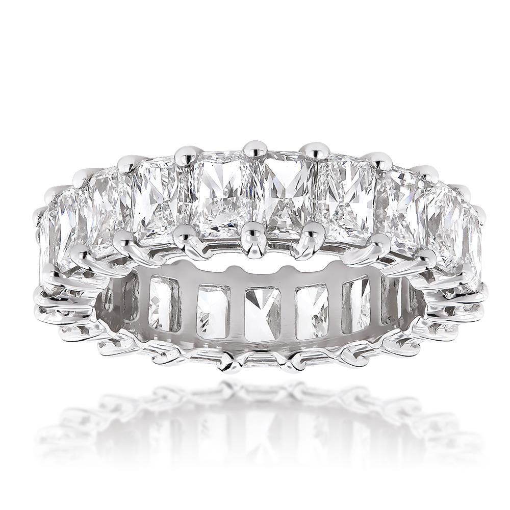 Platinum Radiant Cut Diamonds Eternity Band GVS Diamond