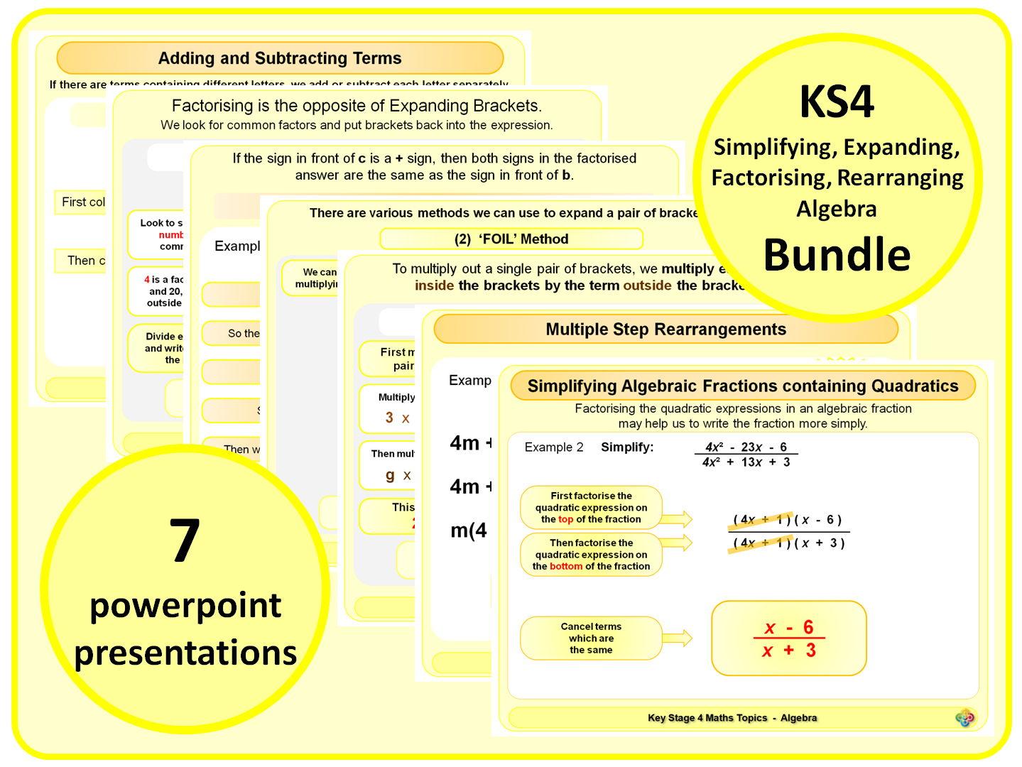 Ks4 Simplifying Expanding Factorising Rearranging