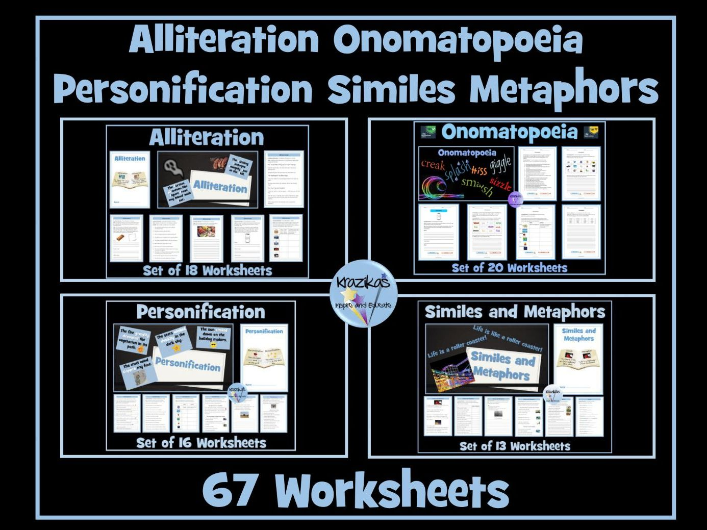 Similes Personification Metaphor Alliteration