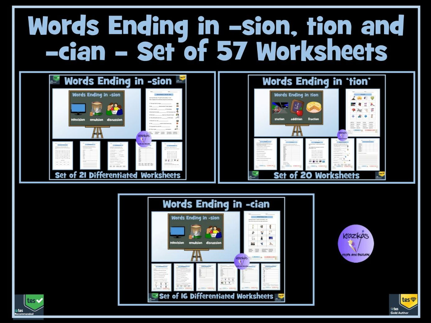 Tion Sion And Cian Suffixes 69 Worksheets