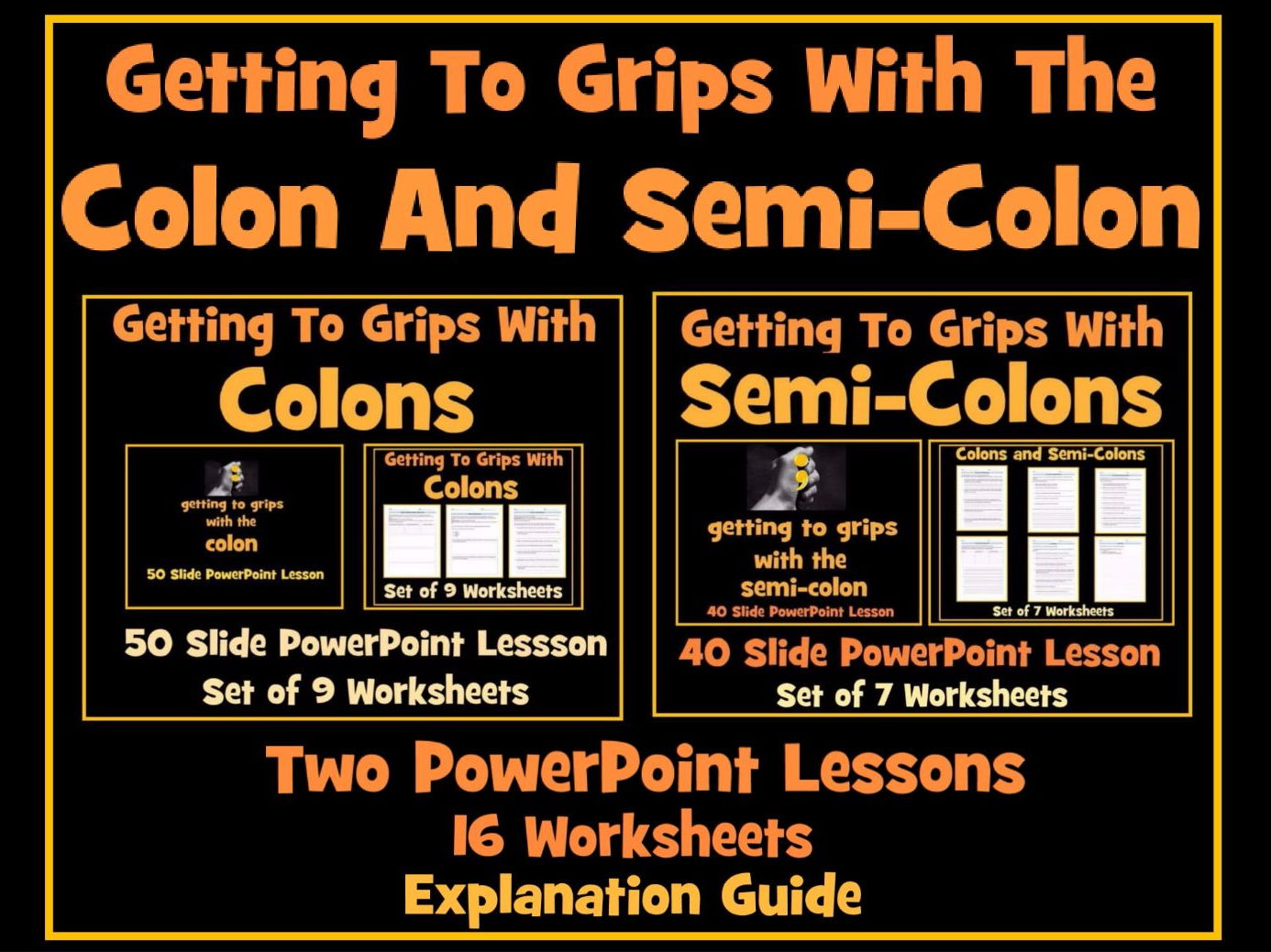 Colons And Semi Colons Bundle By Krazikas