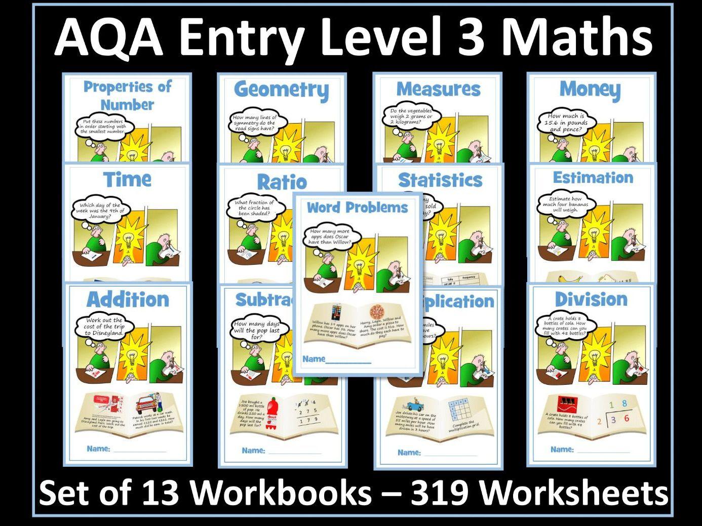 Aqa Entry Level 3 Maths Bundle