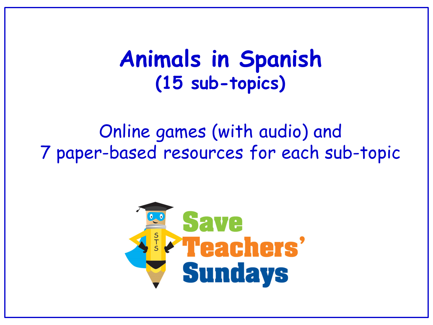 Animals In Spanish Worksheets Games Activities And Flash