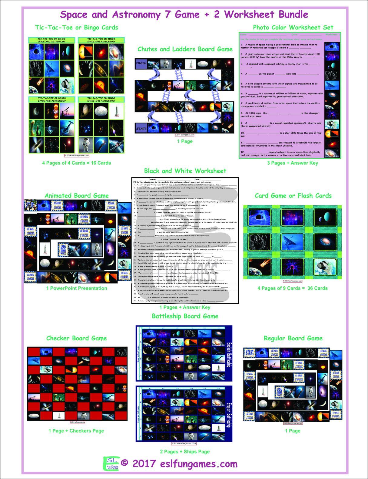 Astronomy Vocabulary Worksheet