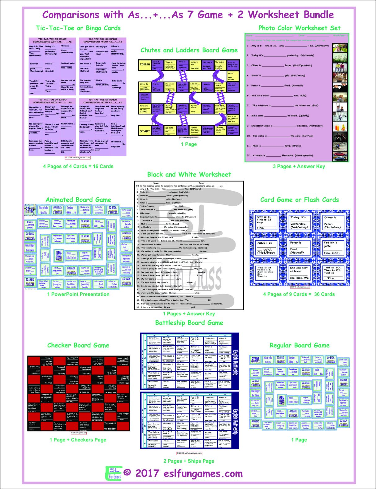 Comparisons With As 7 Game Plus 2 Worksheet