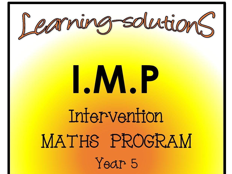 Intervention Maths Program Bundle