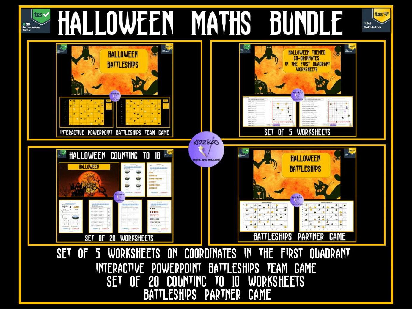 Halloween Maths Bundle By Krazikas