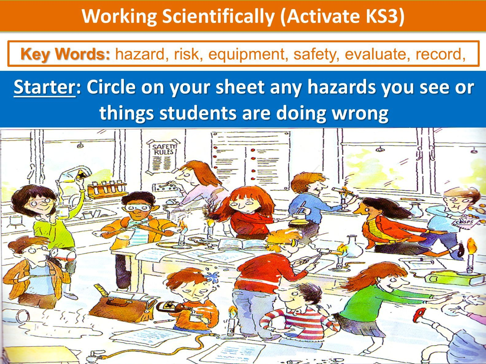 Working Scientifically Activate Ks3