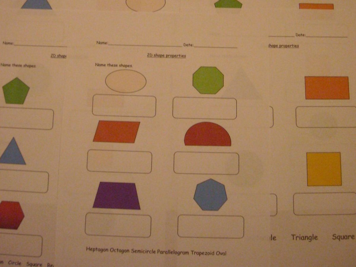 2d And 3d Shape Properties For Sen Early Years Primary