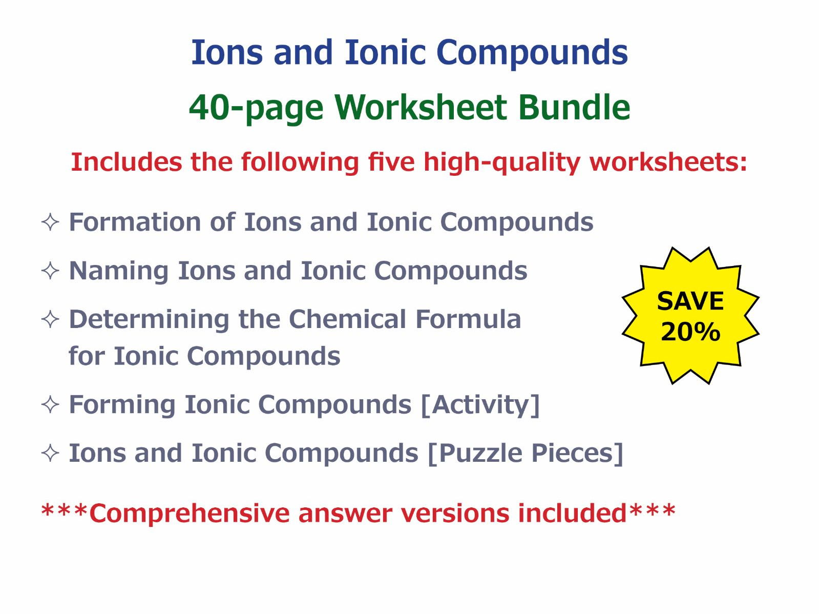 Ionic Compound Worksheet Free Worksheets Library Download And