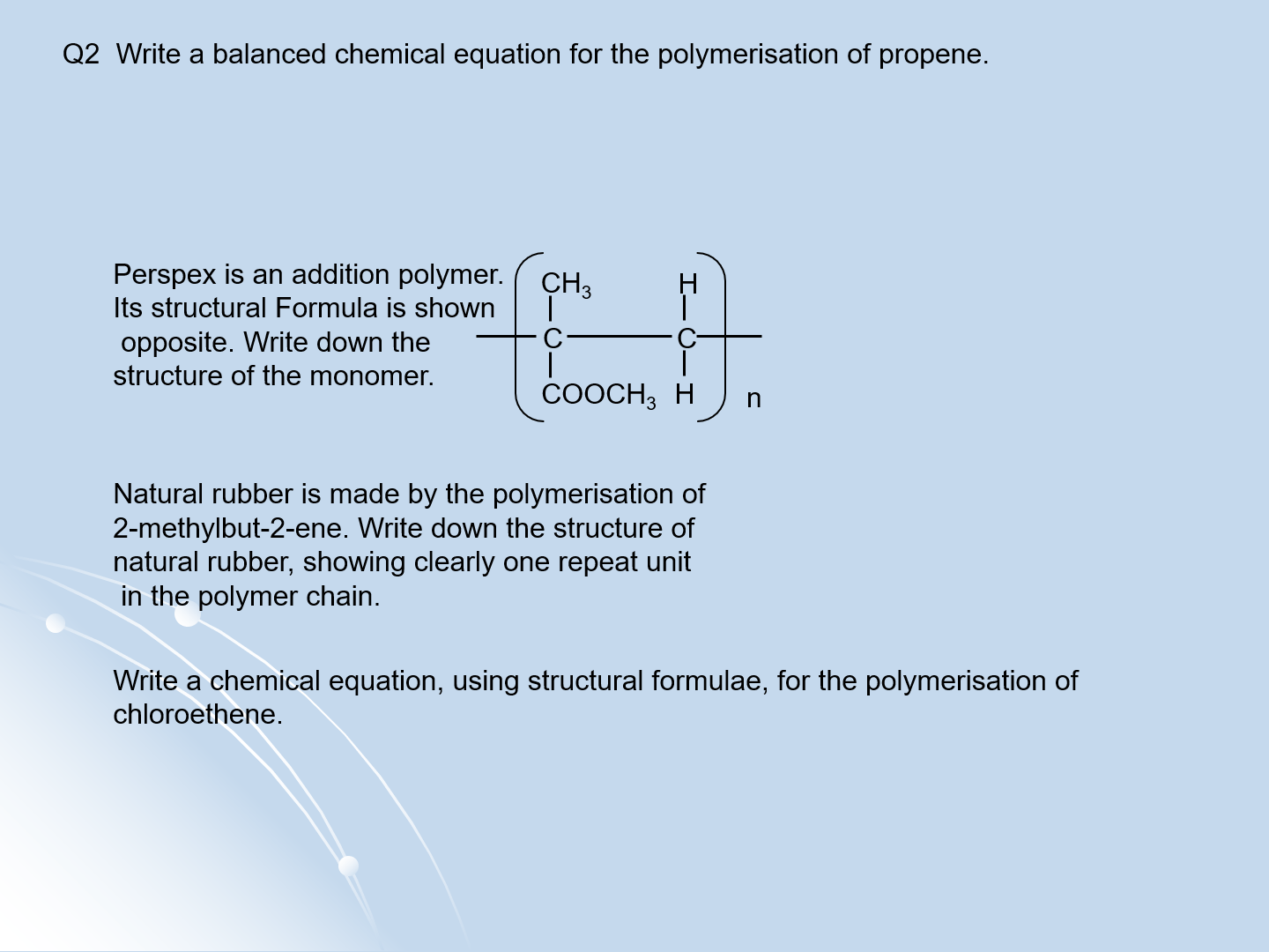Alkene Questions With Answers For A Level Chemistry By