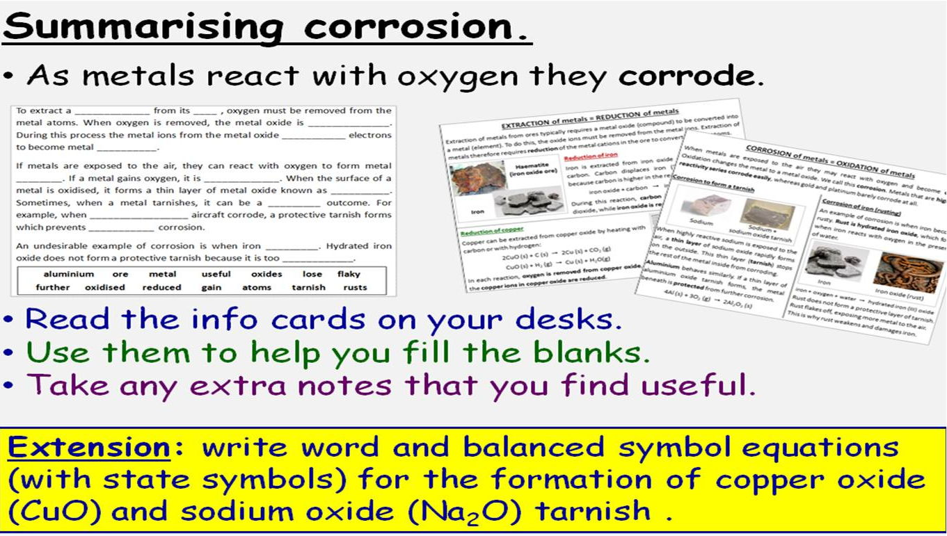 Transition Metals Alloys And Corrosion 4 Gcse Lessons