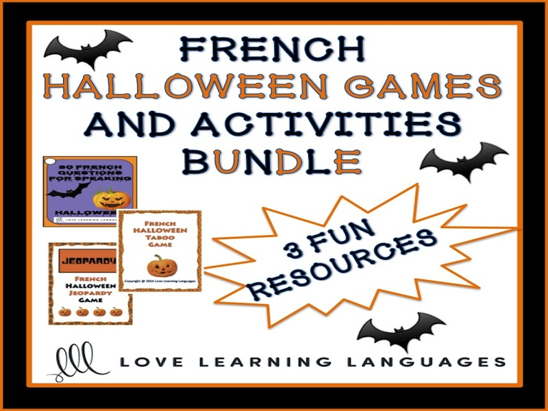 gcse french halloween jeopardy game franais by