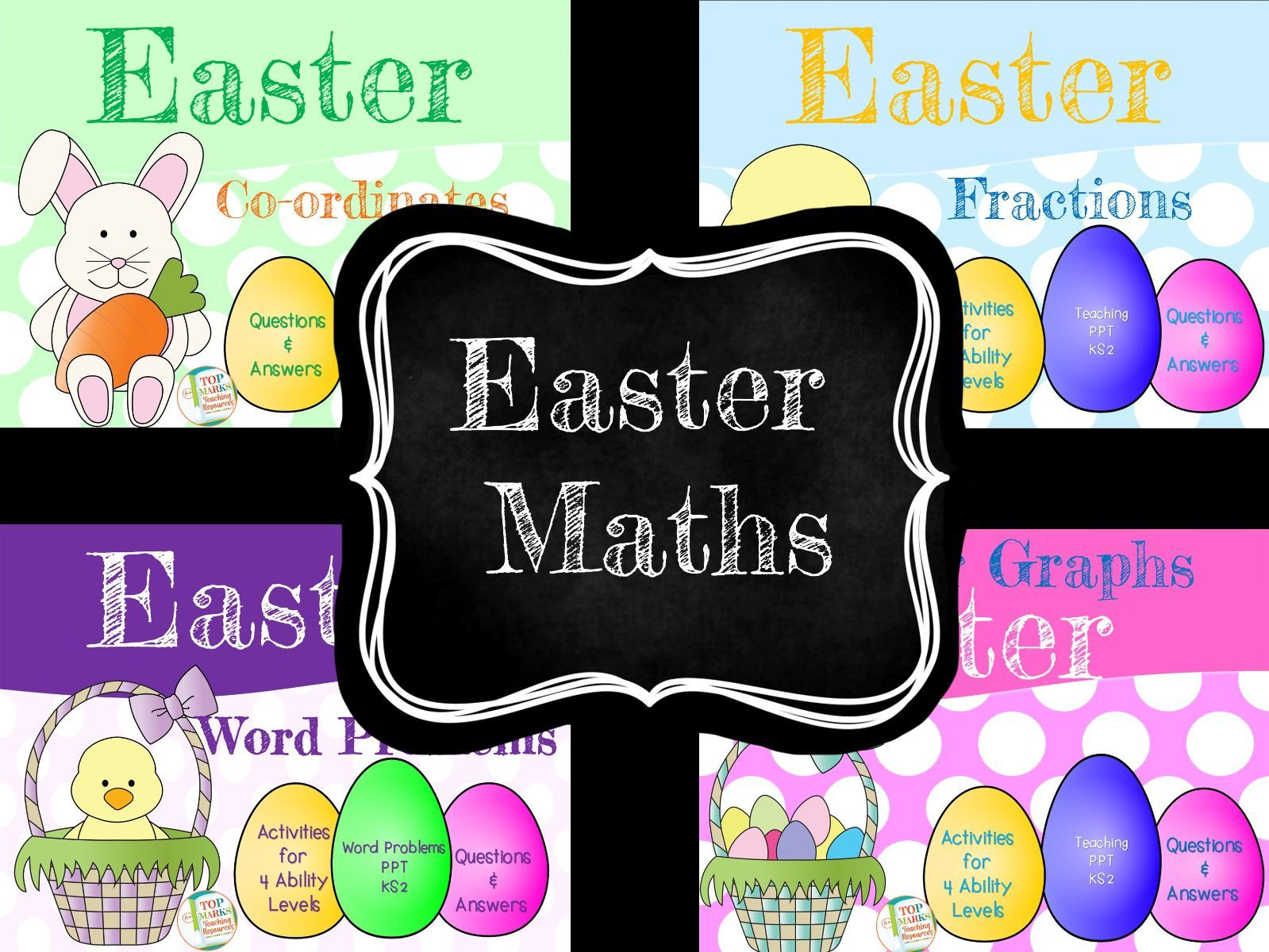 Easter Maths Ks2 Word Problems Fractions Bar Graphs And