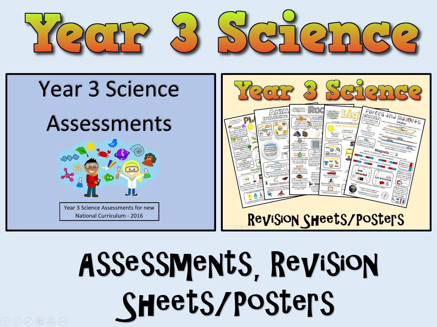 Year 3 Science Assessments Posters Revision Sheets