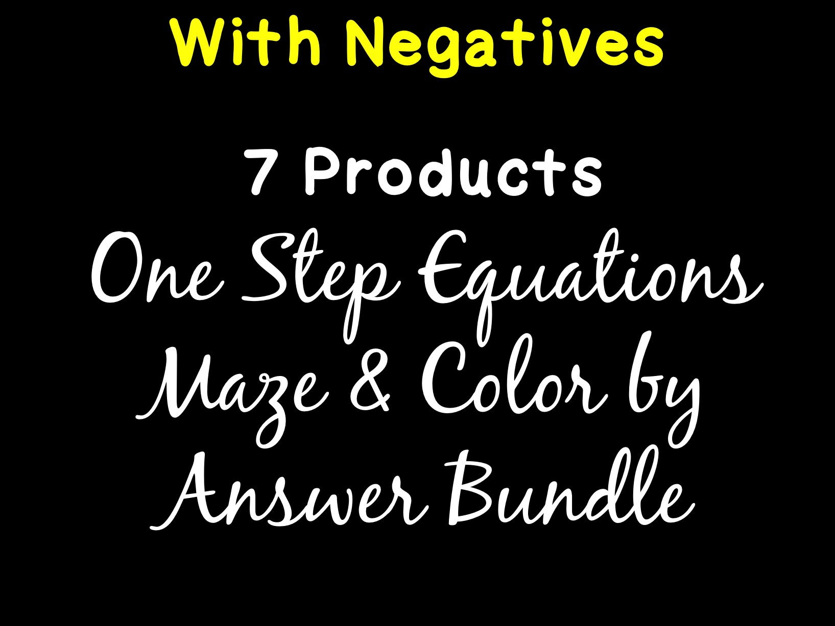 Solving Equations One Step Equations With Negatives Maze