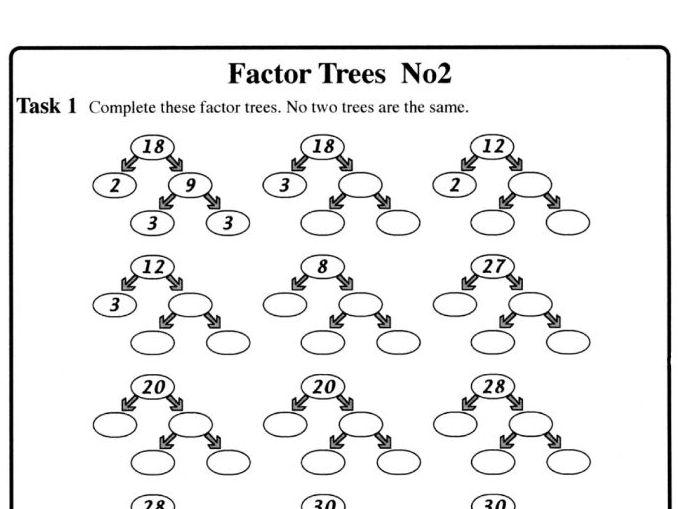 Factor Trees No2