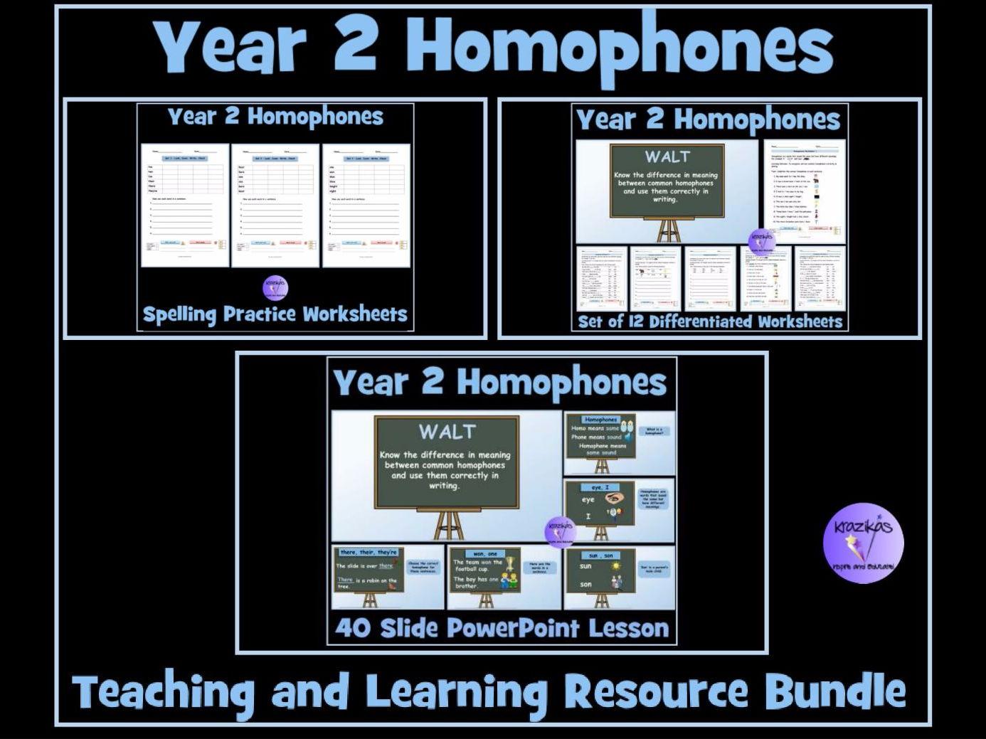 Homophones Year 2 By Krazikas