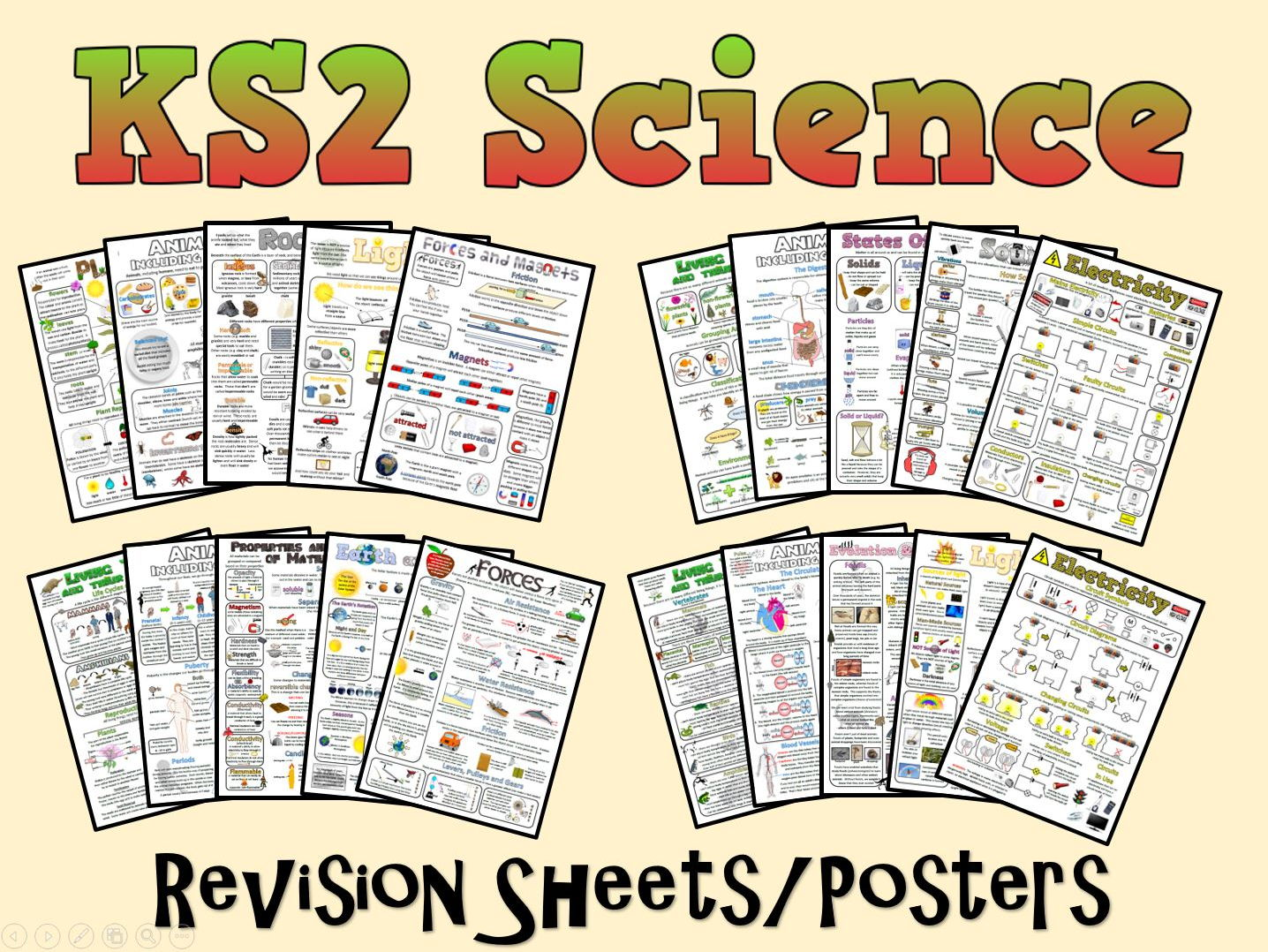 Ks2 Science Posters Revision Sheets
