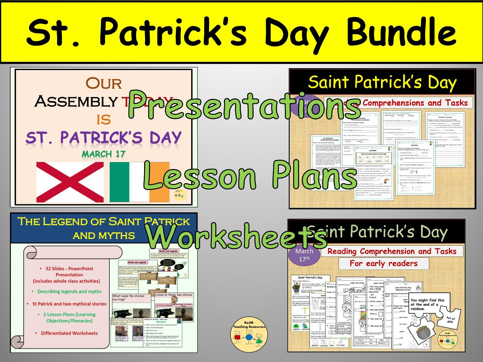 St Patricks Day Presentation Worksheets Lesson Plans Non