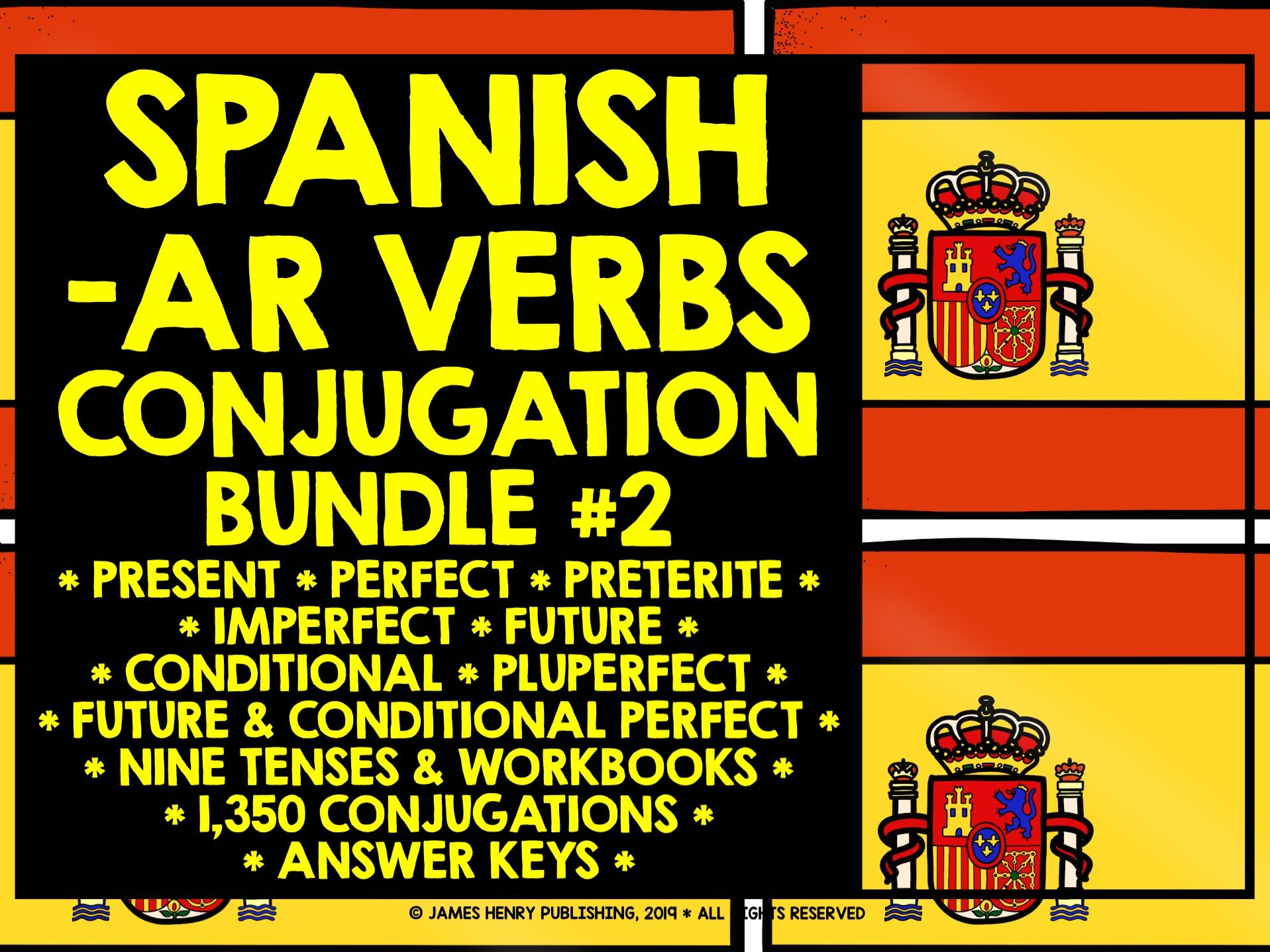 Spanish Ar Verbs Conjugation Bundle 2
