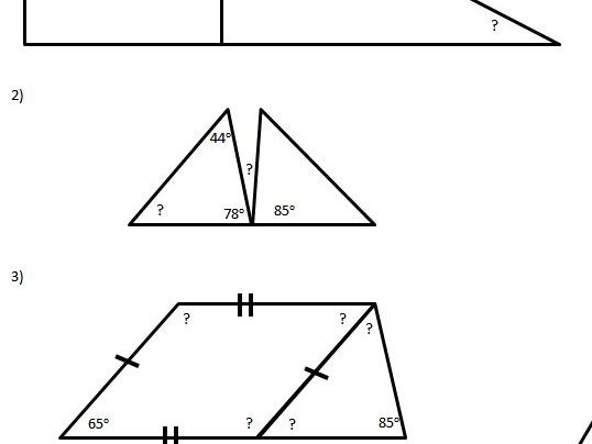 Calculating Missing Angle Year 6 With 4 Levels Of