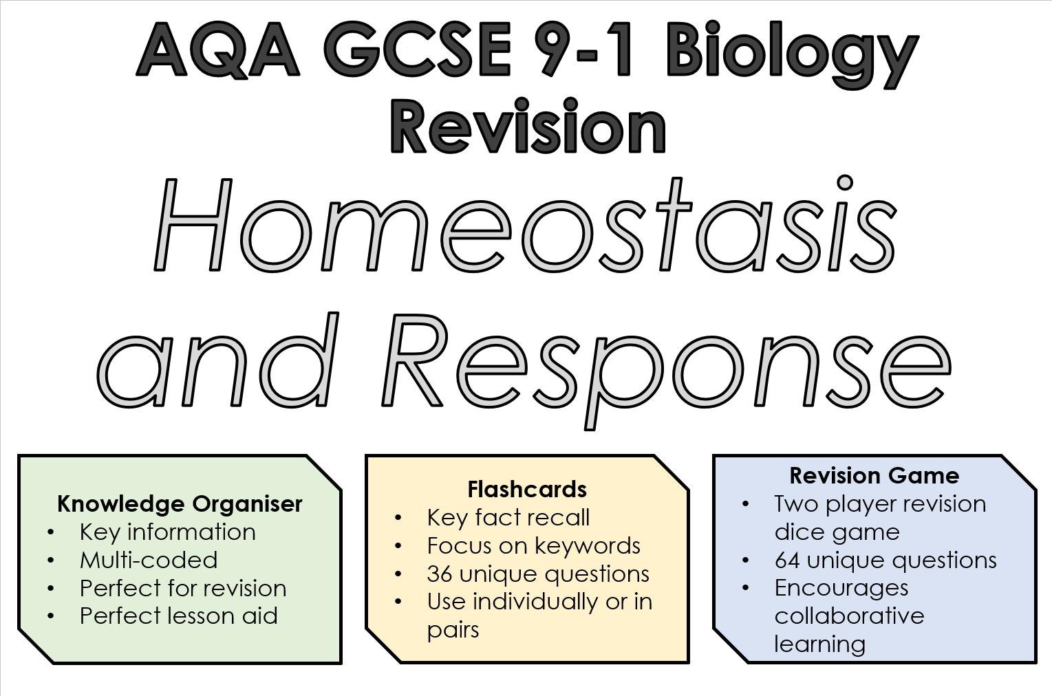 Aqa 9 1 Gcse Biology Homeostasis And Response Revision