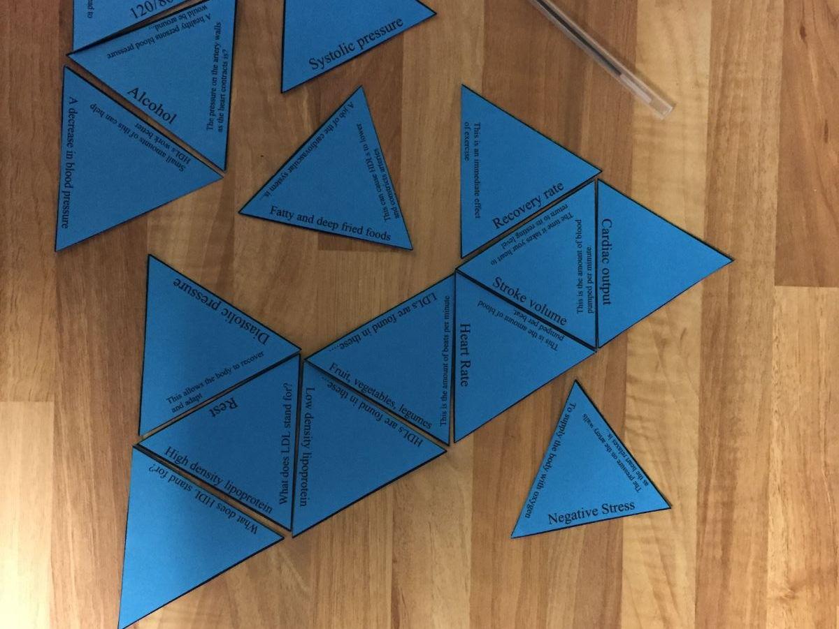 Gcse Pe New Edexcel Spec Tarsia Triangle Puzzle Bundle